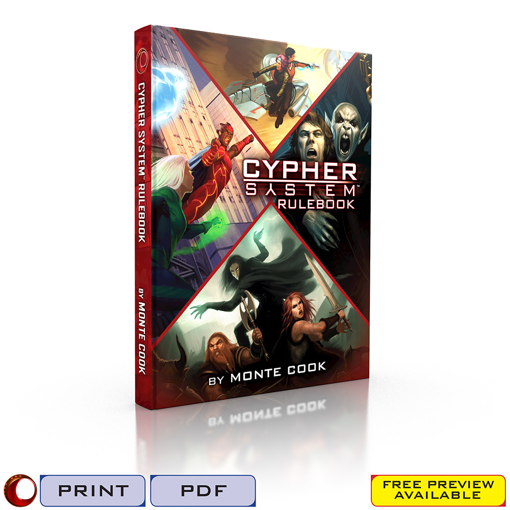 Rpg Review: Cypher System From Monte Cook Games